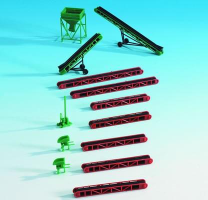 Kibri 38606 (8606) - Förderbänder und Schüttgutsilo - H0