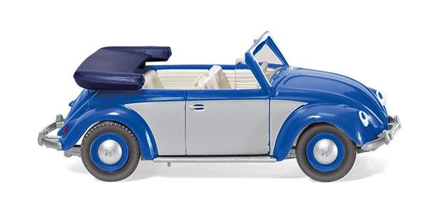 Wiking 079404 - VW Käfer 1200 Cabrio - blau/silber - 1:87