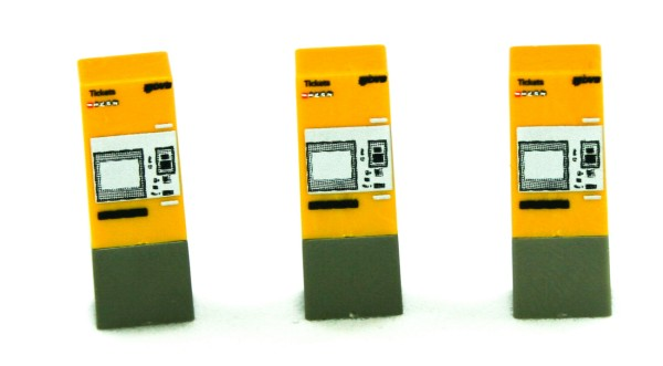 Rietze 70300 - Fahrkartenautomat DVB Dresden 3 Stück - 1:87