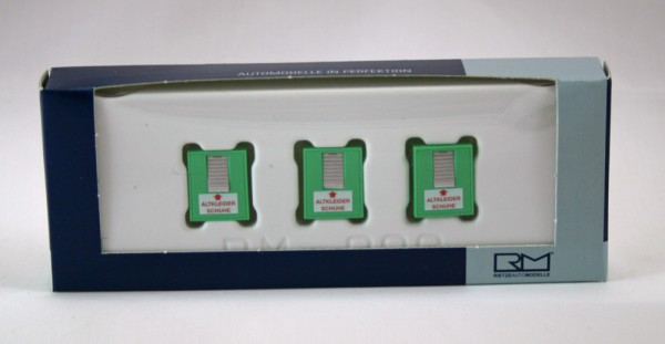 Rietze 70259 - Altkleidercontainer (3 Stück) - 1:87