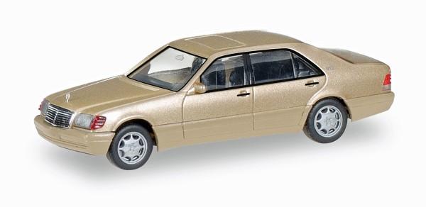 Herpa 038775 - Mercedes-Benz S-Klasse V12 (W140), champagner metallic - 1:87