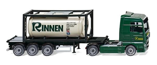 "Wiking 053601 - Tankcontainersattelzug 20' (MAN TGX) ""Rinnen"" - 1:87"