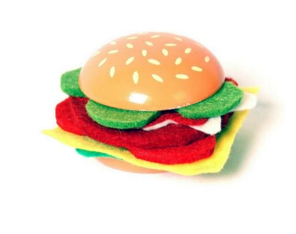 Cheeseburger aus Holz - 6-er Set (4552)