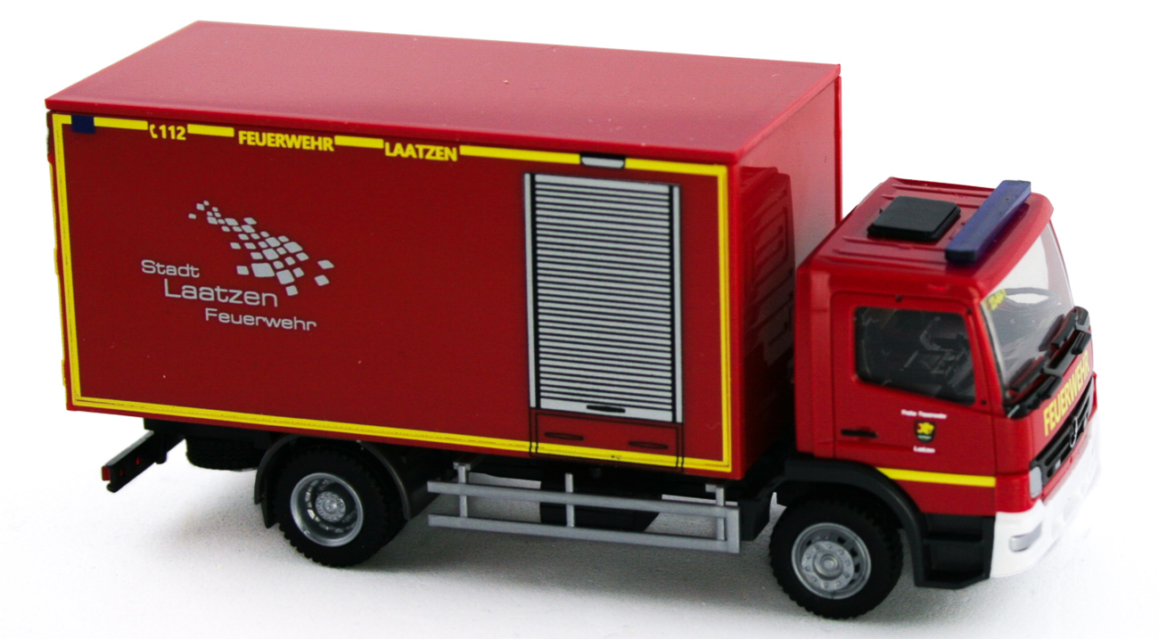 1//87 Rietze MB Atego /'10 Koffer Fw Laatzen Gerätewagen Logistik 72508