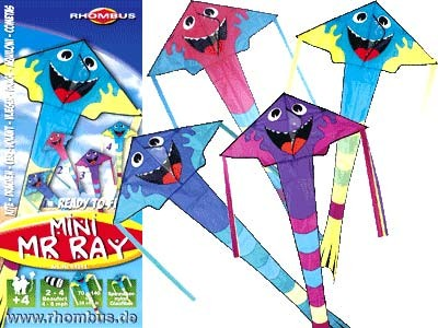 Rhombus Kinderdrachen Mini Mr. Ray - 70 x 140 cm