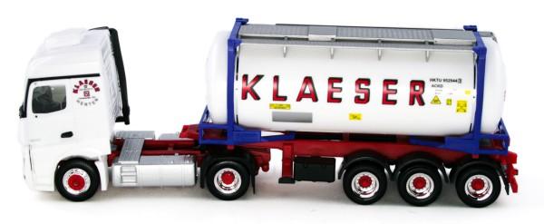 "Herpa 934930 - Mercedes-Benz Actros StreamSpace Swapcontainer-Sattelzug ""Klaeser"" - 1:87"