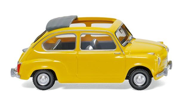 Wiking 009905 - Fiat 600 m. offenem Faltdach - gelb - 1:87