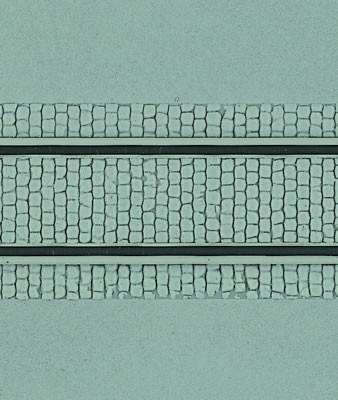 Kibri 34125 (4125) - Straßenplatte mit Gleiskörper - Fläche: 240 cm² - H0