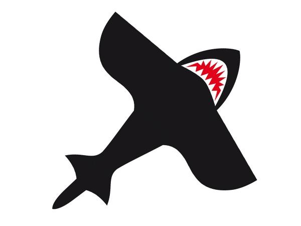 Invento-HQ Einleiner Shark Kite 7' (190 x 210 cm) - R2F