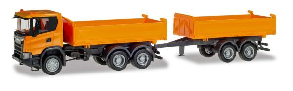 Herpa 309776 - Scania CG 17 4x4 Zugmaschine, orange - 1:87