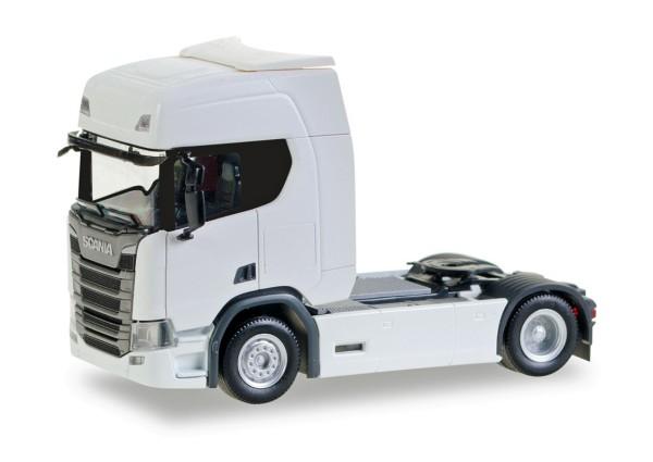 Herpa 307185 - Scania CR20 HD Zugmaschine, weiß - 1:87