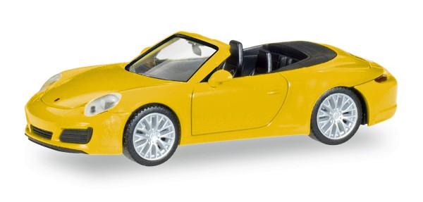 Herpa 028899 - Porsche 911 Carrera 4S Cabrio, racinggelb - 1:87
