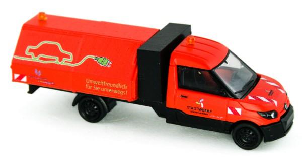 Rietze 33202 - Streetscooter Work L Müllhaube Stadtwerke Bad Oeynhausen - 1:87