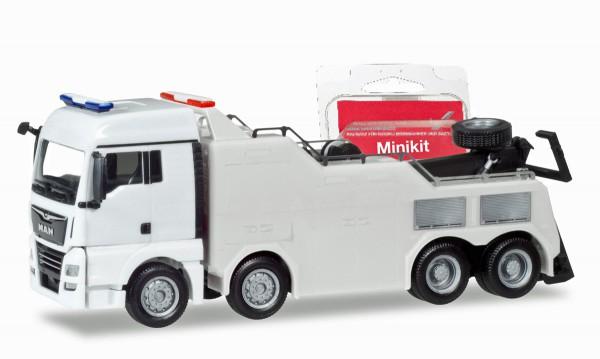 Herpa 013574 - Herpa MiniKit:MAN TGX XLX Euro 6c Empl Bergefahrzeug, weiß - 1:87