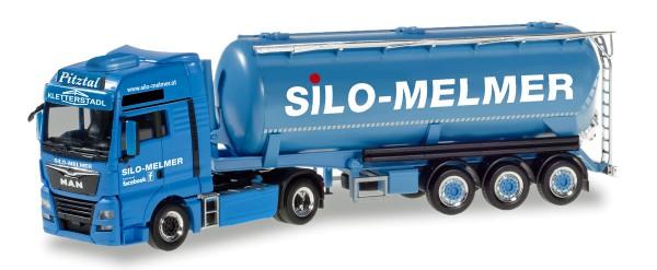 "Herpa 310574 - MAN TGX XXL Euro 6c Silo-Sattelzug ""Silo Melmer/ Kletterstadl"" (A) - 1:87"