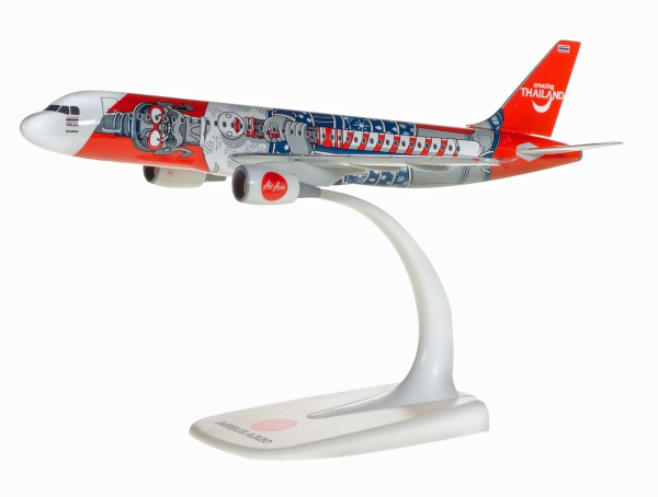 "Herpa Wings 612128 - Thai Air Asia Airbus A320 ""Amazing Thailand"" - HS-ABC - 1:200 - Snap-Fit"