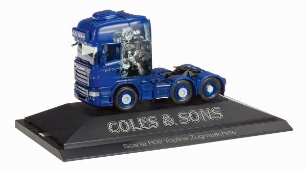 "Herpa 110792 - Scania R TL 6x2 Zugmaschine ""Coles & Sons customs"" (GB) - 1:87"