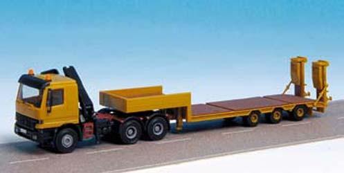 Kibri 14068 - ACTROS mit Arbeitskran und TS3 Auflieger - H0 - Auslaufmodell
