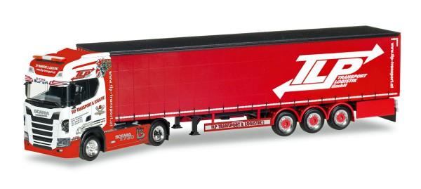 """Herpa 307680 - Scania CS 20 HD Gardinenplanen-Sattelzug """"TLP"""" (A) - 1:87"""