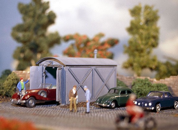 Vollmer 3766 - Wellblech-Garage - H0