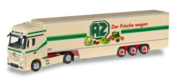 "Herpa 306546 - Mercedes-Benz Actros Gigaspace Kühlkoffer-Sattelzug ""AZ Kempen"" - 1:87"