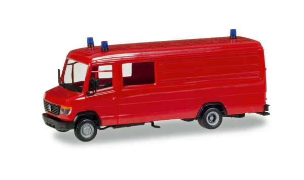Herpa 013260 - Herpa MiniKit: Mercedes-Benz Vario Langkasten GW-A/S, rot, inkl. Rundumleuchten - 1:8