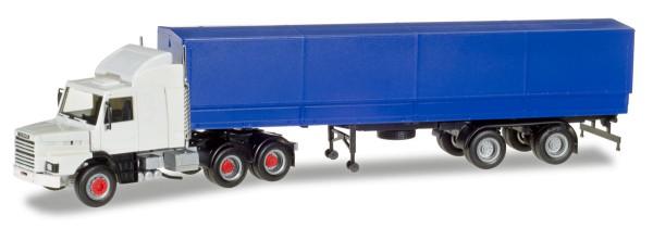 Herpa 307529 - Scania 142 Hauber 6x4 Planen-Sattelzug, unbedruckt - 1:87