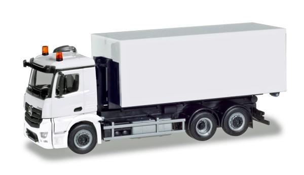 Herpa 013611 - Herpa MiniKit: Mercedes-Benz Antos Wechsellader-LKW, weiß - 1:87