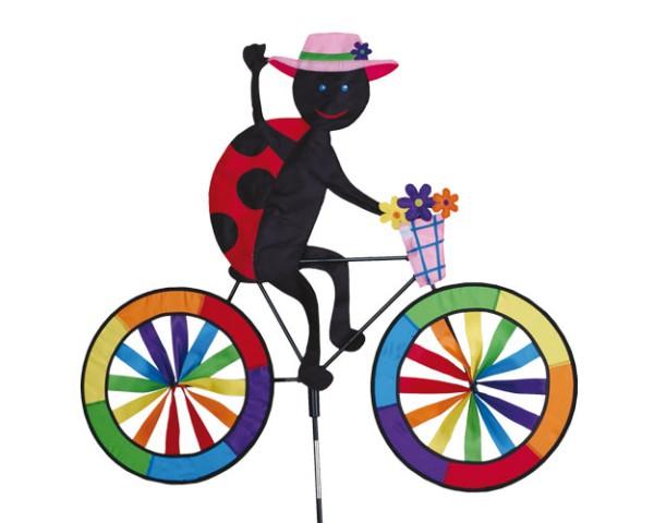 Premier Kites - Windspiel Fahrrad Marienkäfer / Ladybug Biker - 30 cm x 62 cm x 90 cm