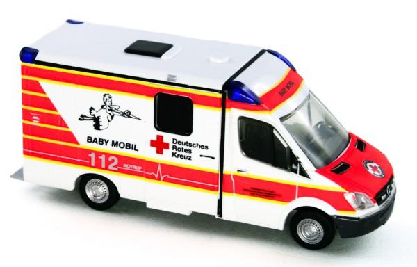 Rietze 61715 - Strobel RTW Baby Mobil DRK Siegen - 1:87