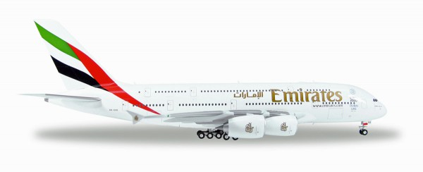 Herpa Wings 555432-002 - Emirates Airbus A380-800 - 1:200