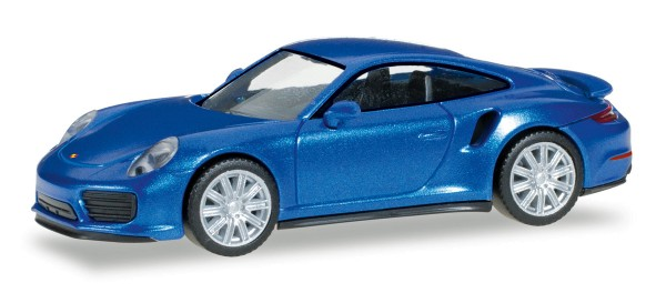 Herpa 038614 - Porsche 911 Turbo, saphierblaumetallic - 1:87
