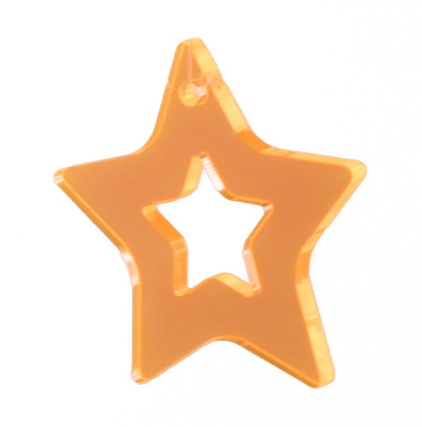 Lichtzauber Zimtstern klein, 10 cm, orange (Elliot 1020722)