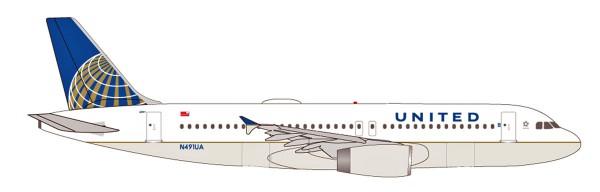 Herpa Wings 531252 - United Airlines Airbus A320 - N491UA - 1:500