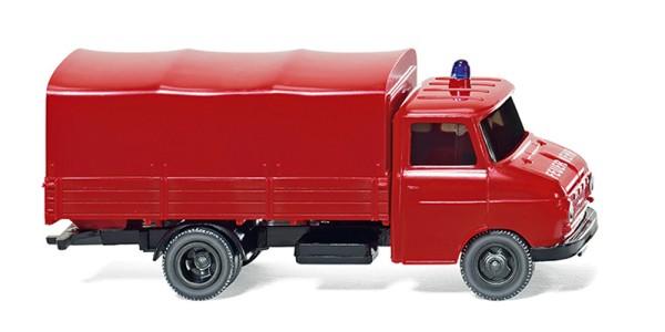 Wiking 086127 - Feuerwehr - Pritschen-Lkw (Opel Blitz) - 1:87