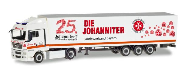 "Herpa 309851 - MAN TGX XLX Koffer-Sattelzug ""Johanniter LV Bayern / Weihnachtstrucker"" - 1:87"
