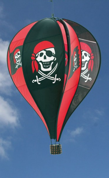 Invento-HQ Windspiel Hot Air Balloon Jolly Roger (40 x 70 cm)