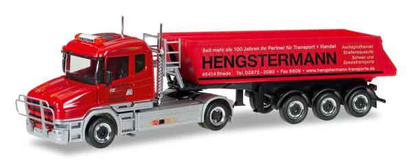 "Herpa 307390 - Scania Hauber Schmitz Kipp-Sattelzug ""Hengstermann Rhede"" - 1:87"