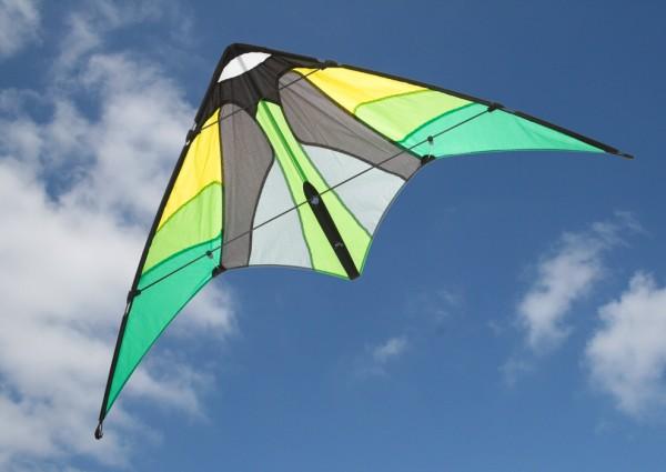 Invento-HQ - Cirrus Emerald - Leichtwind-Lenkdrachen (115 x 51 cm) - R2F