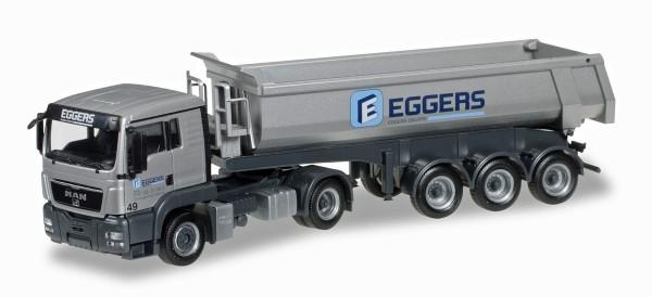 "Herpa 920995 - MAN TGS L Euro 6 Rundmulden-Sattelzug ""Eggers"" - 1:87"