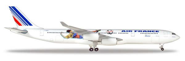 Herpa Wings 531412 - Air France Airbus A340-300 - France 1998: Brazil / Columbia - F-GLZK - 1:500