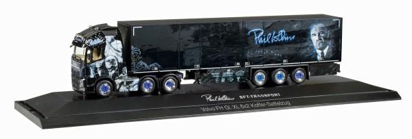 "Herpa 121859 - Volvo FH Gl. XL 6x2 Koffer-Sattelzug ""SFT / Phil Collins"" - 1:87"