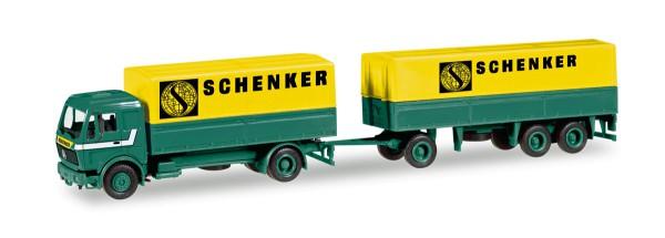 """Herpa 308687 - Mercedes-Benz Planen-Hängerzug """"Schenker"""" - 1:87"""
