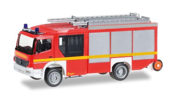 """Herpa 091060-002 - Mercedes-Benz Atego Ziegler Z-Cab HLF 20, leuchtrot """"Feuerwehr - 1:87"""