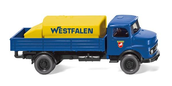 """Wiking 043801 - Pritschen-Lkw mit Aufsatztank (MB) """"Westfalen"""" - 1:87"""