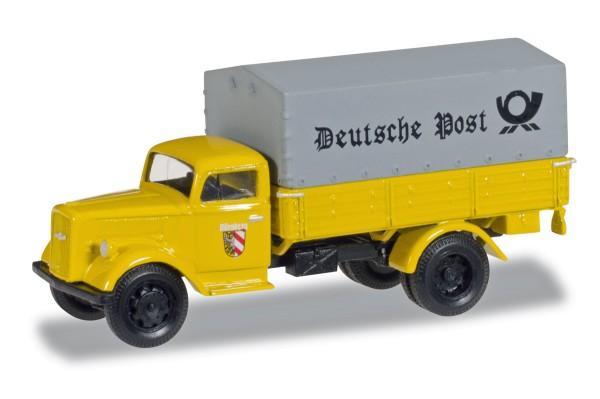 """herpa 745376 - Opel Blitz Planen-LKW """"Deutsche Post Nürnberg"""" - 1:87"""