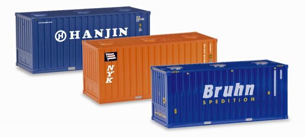 Herpa 076661 - Bulkcontainer-Set 20ft., 3 Stück - 1:87