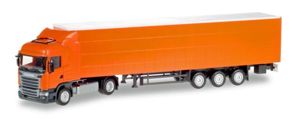 Herpa 307451 - Scania R Highline Gardinenplanen-Sattelzug, unbedruckt - 1:87