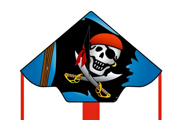 Invento-HQ Simple Flyer Jolly Roger 120 cm - Einleiner (120 x 75 cm) - R2F