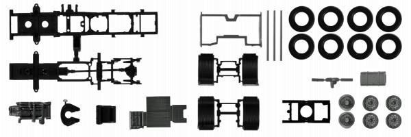 Herpa 084802 - Fahrgestell Volvo FH 6x2 mit Chassisverkleidung Inhalt: 2 Stück - 1:87